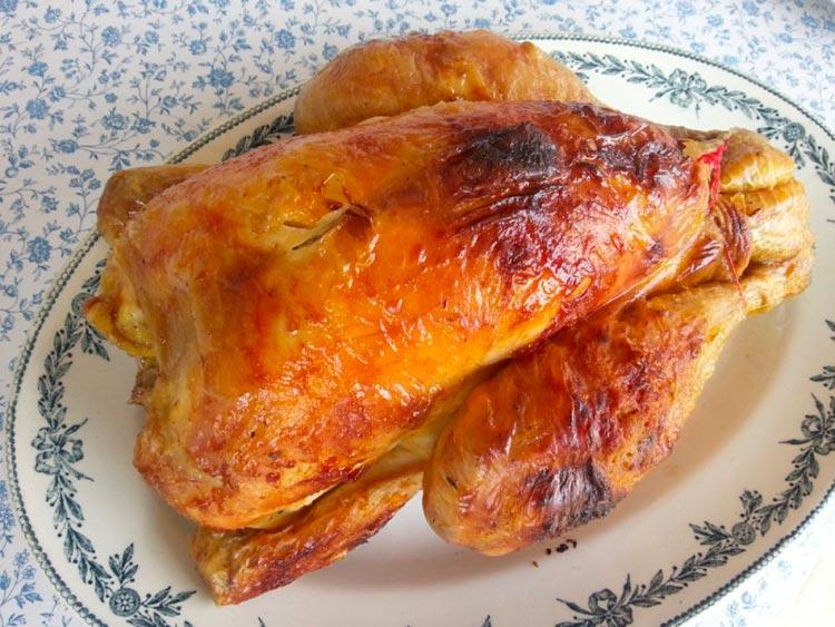 poulet roti four